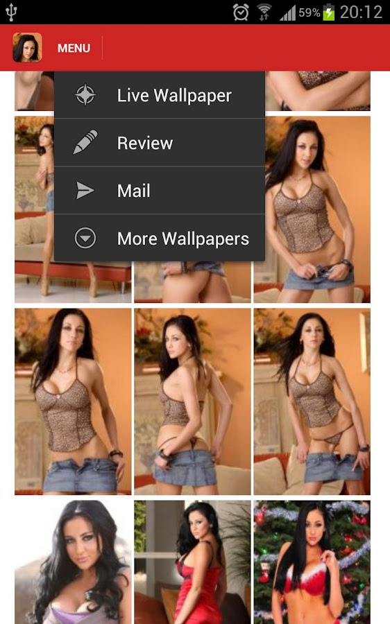 Audrey Bitoni Live Wallpaper - screenshot