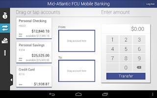 Screenshot of MAFCU Mobile Banking App