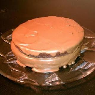 Chocolate-Chocolate Chip Cream Cake.