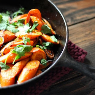 Cast Iron Carrots with Curry & Cilantro