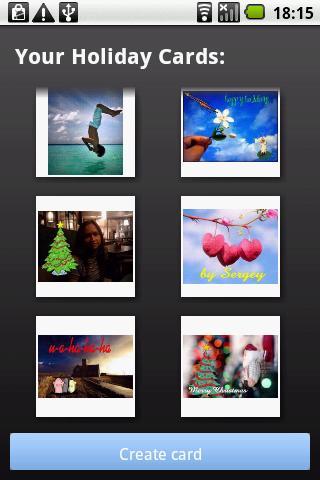 Holiday Cards - screenshot