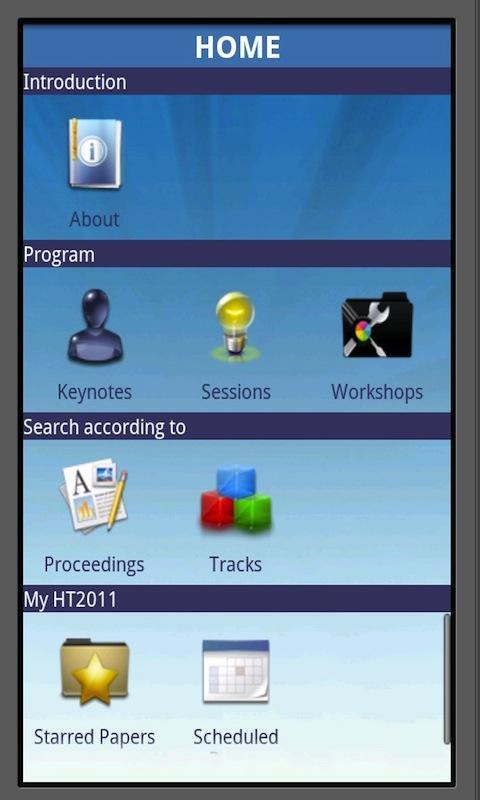 Hypertext 2011- screenshot