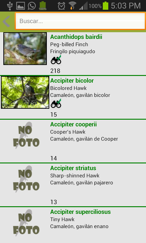 Aves de Costa Rica - screenshot