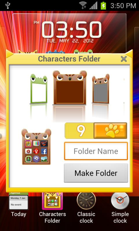 Characters Folder Lite - screenshot
