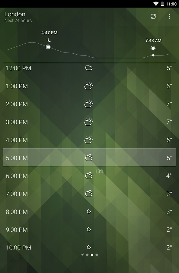 Screenshots of Weather for Android