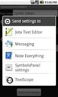Screenshot of SymbolsPanel Builder