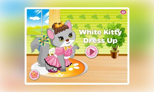 白色猫咪装扮
