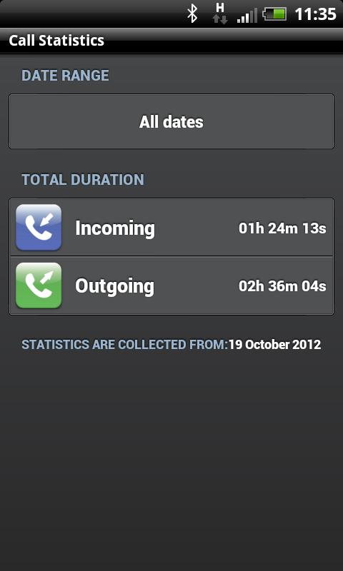 Call Statistics - screenshot