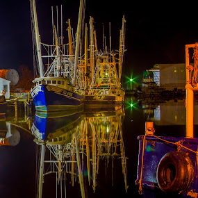 Bubba's Shrimp Boats by Jeannie Meyer - Transportation Boats ( forest gump, bayou la batre, shrimp boat, alabama, bayou, fishing boat )