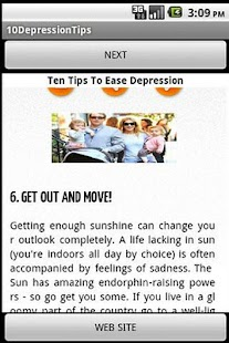 Ten Tips to Ease Depression - screenshot thumbnail