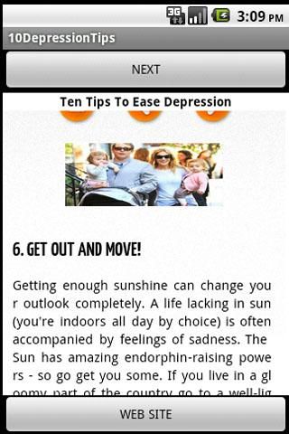 Ten Tips to Ease Depression - screenshot