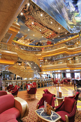 Costa-Magica-atrium-3 - Costa Magica's nine-deck-high atrium.