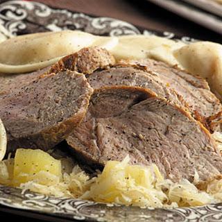 German Roast Pork & Sauerkraut.