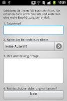 Screenshot of Bußgeldrechner