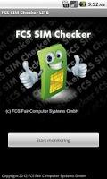 Screenshot of FCS SIM Checker LITE