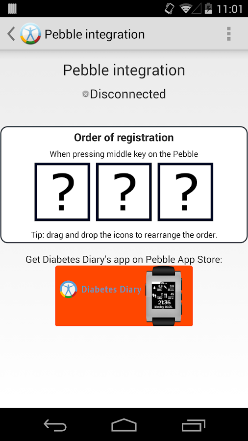 Diabetes Diary- screenshot
