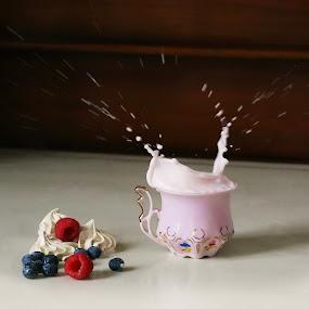 by Kseniya Maksimenko - Food & Drink Alcohol & Drinks ( fruit, splash, milk, food & beverage, eat & drink, meal )