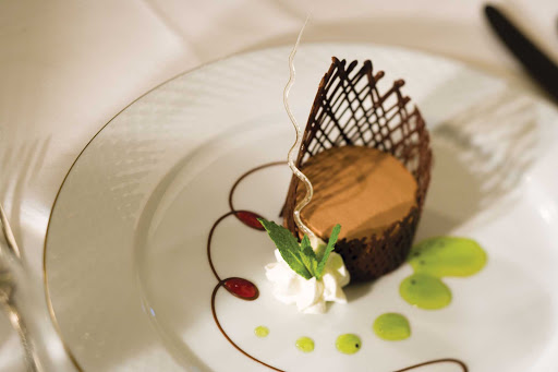 Regent-Seven-Seas-Chocolate-Dessert - The presentation of desserts offered aboard a Regent Seven Seas cruise will impress.