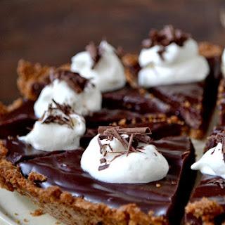 Dark Chocolate Ganache Pie with a Biscoff Cookie Crust.