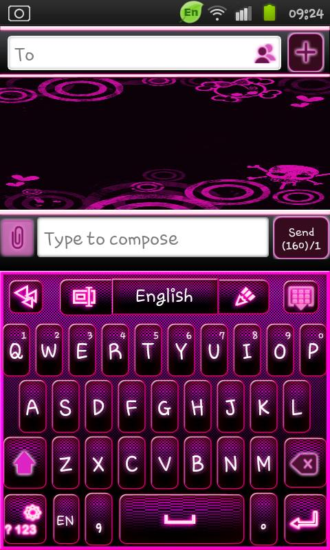 Go Keyboard Emo Punk Theme- screenshot