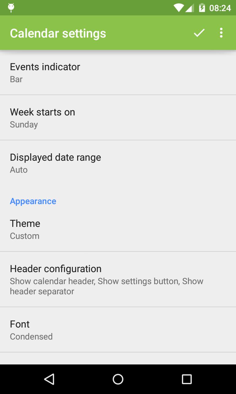 Event Flow Calendar Widget Screenshot 7