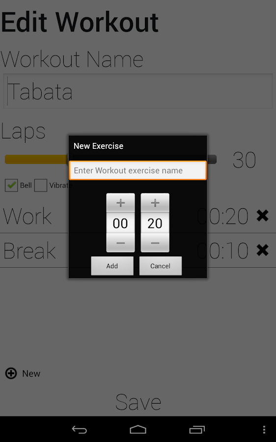 Exercise Timer - screenshot
