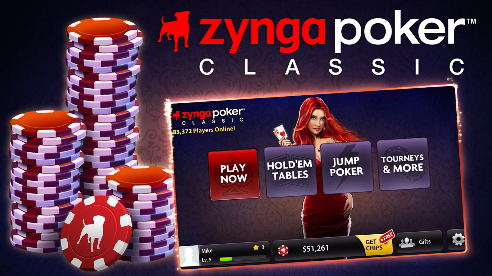 Install zynga poker app