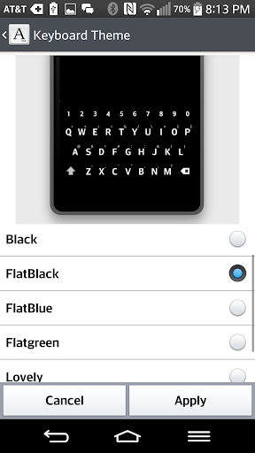 FlatBlack KeyBoard for LGHOME