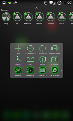 TSF Shell Theme Green Th HD - screenshot