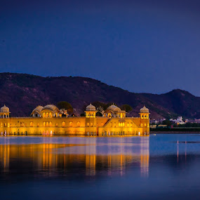 Water Palace by Ankur Chaturvedi - Buildings & Architecture Public & Historical ( jaipur, india, night, travel, palace )
