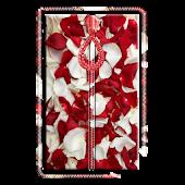 Rose Petals Zipper Screen Lock