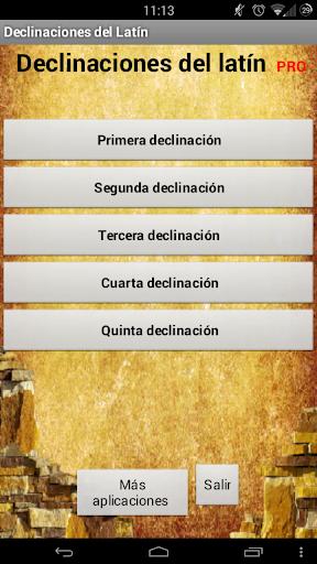 Declinaciones de Latín PRO
