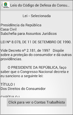 Código Defesa Consumidor - screenshot