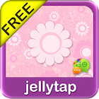 Pretty Pink Flower SMS Theme icon