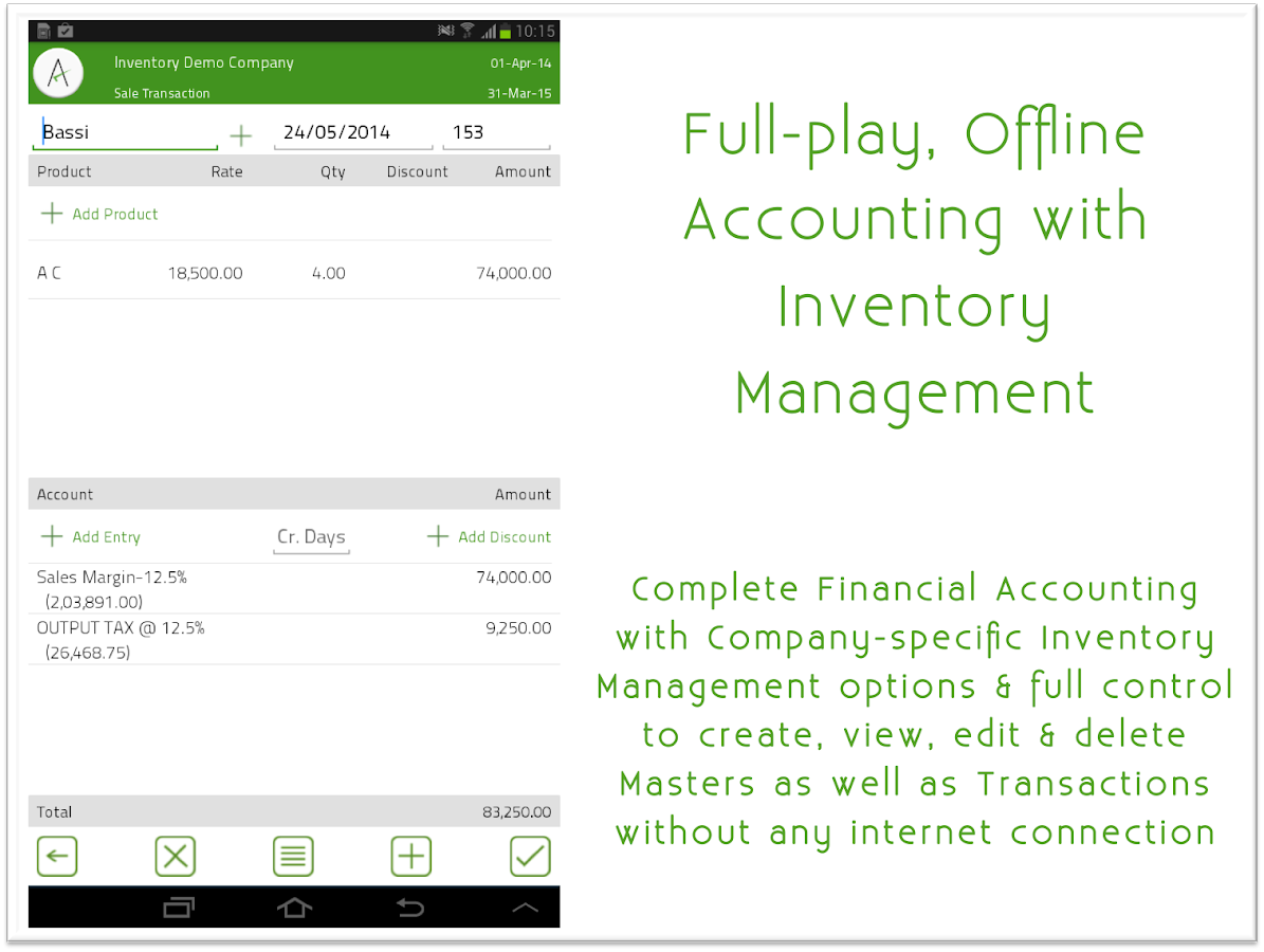 mAccounts Mobile Accounting- screenshot