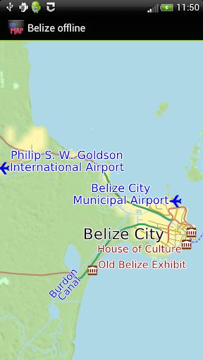Belize offline map