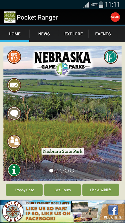 NE State Parks Guide- screenshot
