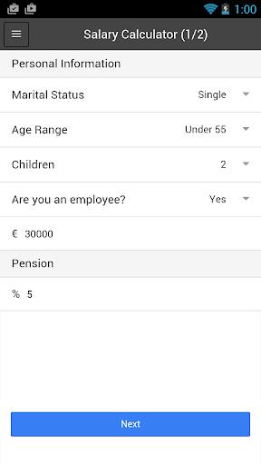 Irish Salary Tax Calculator