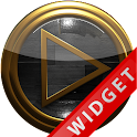 Poweramp Widget Black Wood