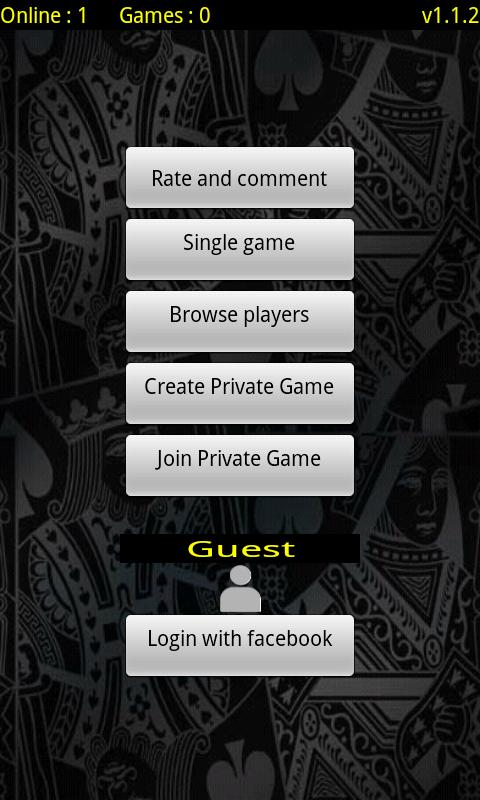 Cards Online (Αγωνία, Ξερή) - screenshot