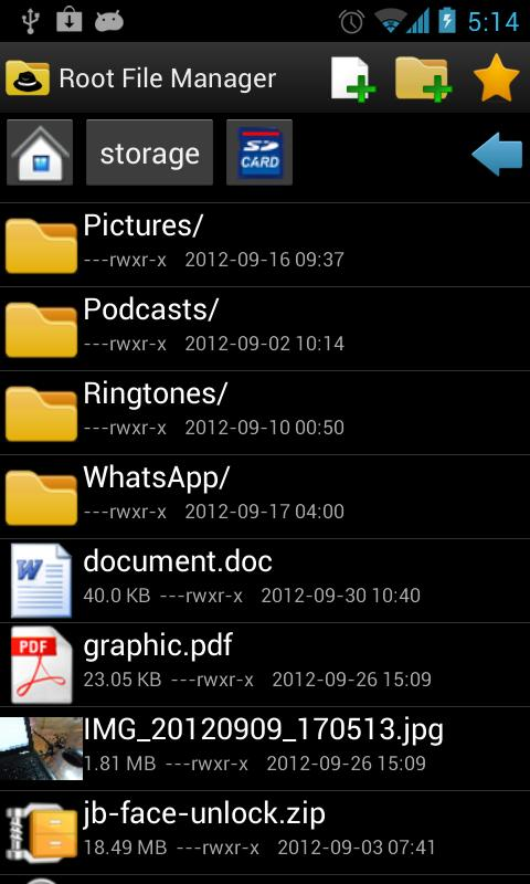 Root File Manager- screenshot