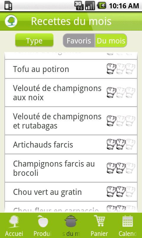 Recettes 4Saisons- screenshot