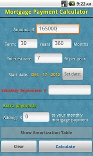 Mortgage Payment Calculator - Android Apps on Google Play