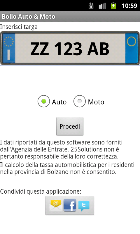 Bollo Auto & Moto- screenshot