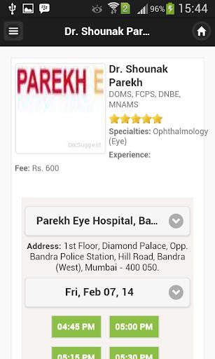 Dr Shounak Parekh Appointments