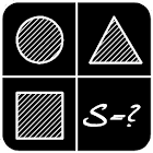 The area of geometric figures icon