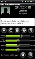 Screenshot of SVOX Portuguese Catarina Voice