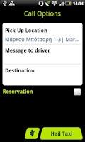 Screenshot of taxiplon passenger