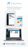 Screenshot of MyDigipass.com Authenticator