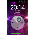 Neon Purple HD GO Locker Theme icon